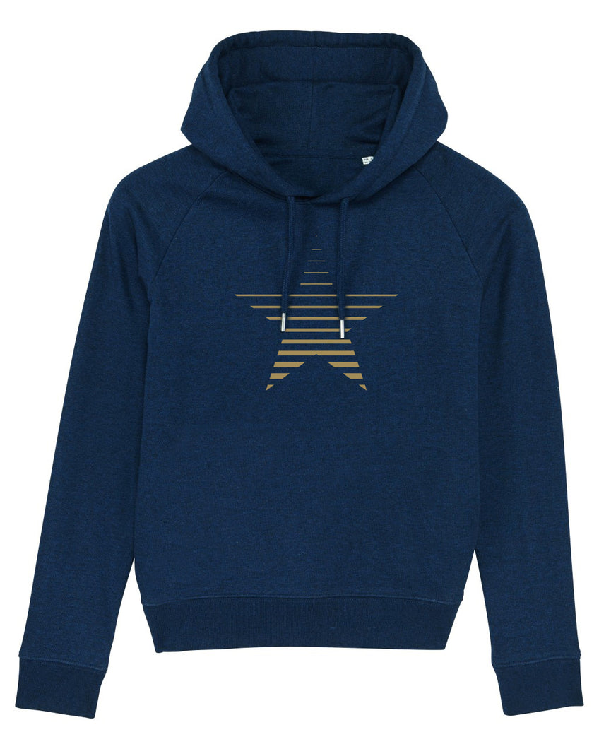 NEW Navy Striped Star Hoodie
