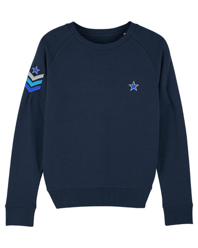 Navy Military Sweatshirt