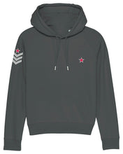Load image into Gallery viewer, Anthracite Grey Military Style Hoodie