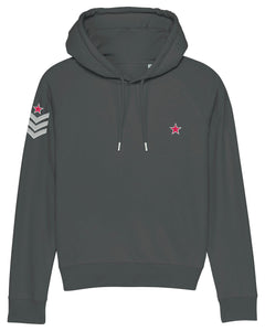 Anthracite Grey Military Style Hoodie