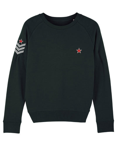 Black Military Sweatshirt