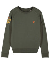 Load image into Gallery viewer, Khaki Military Sweatshirt