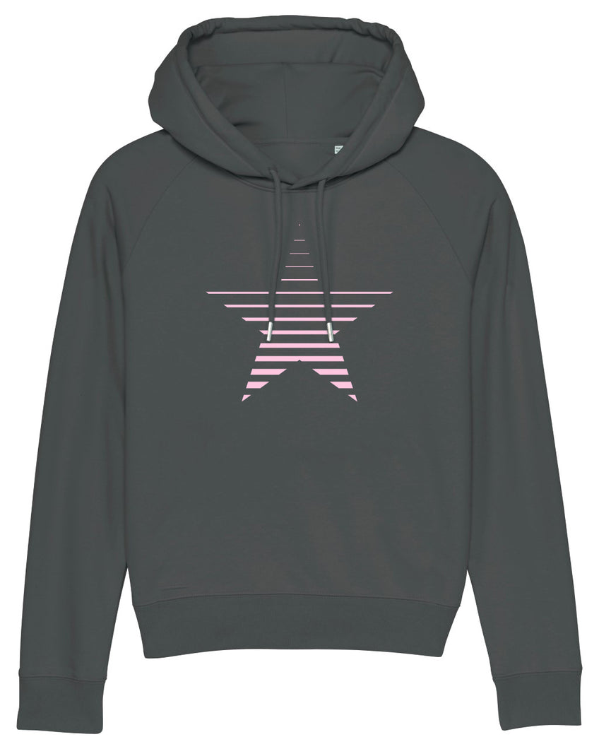 NEW Anthracite Striped Star Hoodie