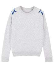 Load image into Gallery viewer, Heather Ash Shoulder Star Sweatshirt