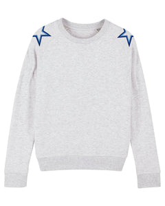 Heather Ash Shoulder Star Sweatshirt