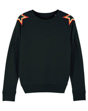 Load image into Gallery viewer, Black Shoulder Star Sweatshirt