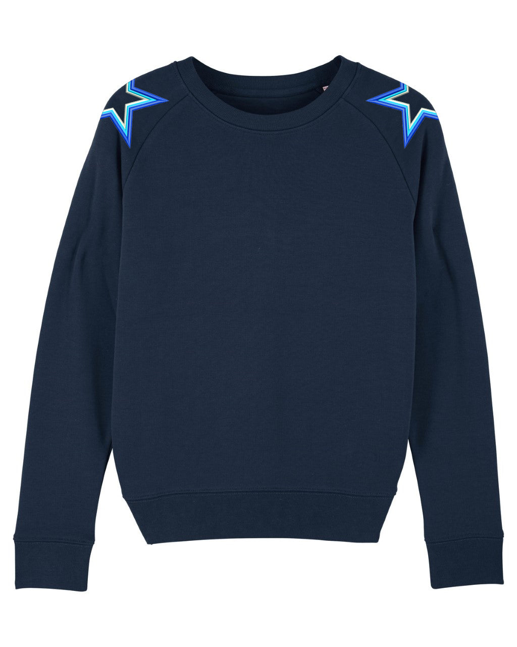 Navy Shoulder Star Sweatshirt
