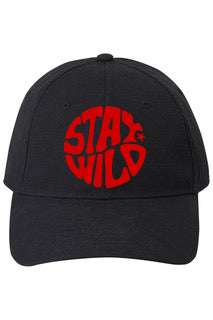 NEW Black Stay Wild Baseball Cap