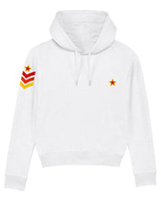 Load image into Gallery viewer, NEW White Military Style Hoodie