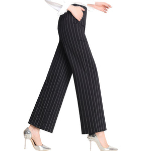 Spring and summer new high waist elastic waist loose Korean trousers women's casual pants