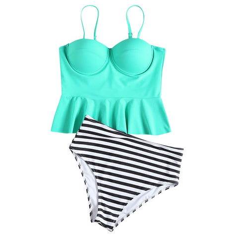 Solid color sexy small fresh ladies split bikini
