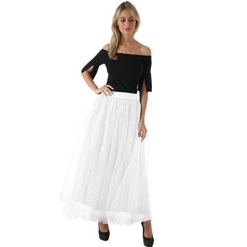 100CM Europe and the United States 4 layer mesh skirt Tulle skirt explosions mopping skirt