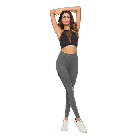 Women's Leggings Elastic Waist Gauze Patch Slim Leggings