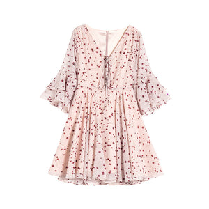 New chiffon slim floral dress