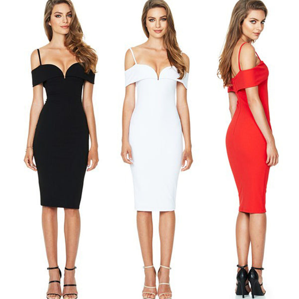 Autumn and winter new sexy nightclub sling slim pencil skirt dress