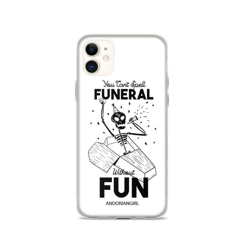 Funeral iPhone Case - White