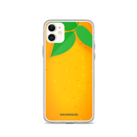 Orange Thoughts iPhone Case