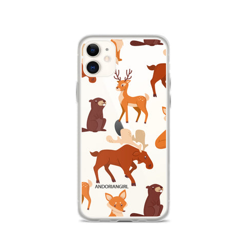 Falling For Animals iPhone Case