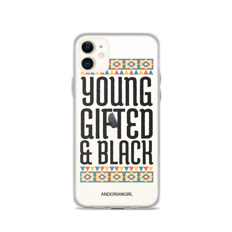 Young Gifted & Black iPhone Case - Black