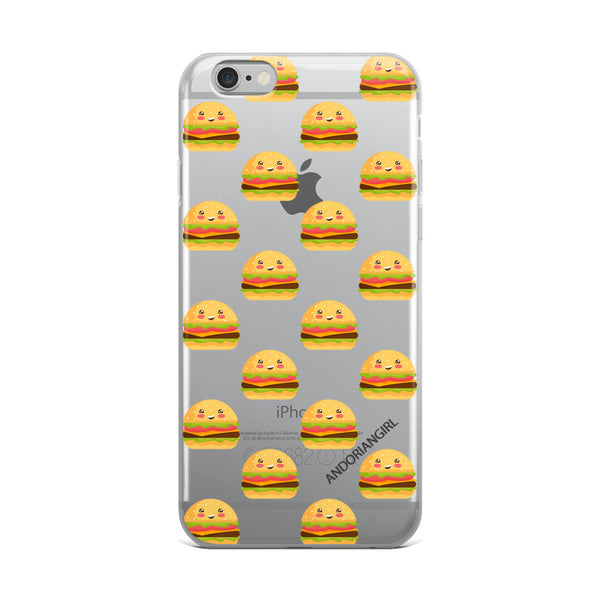 Burger Thoughts iPhone Case