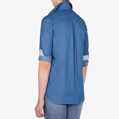 Valentina denim shirt with contrast