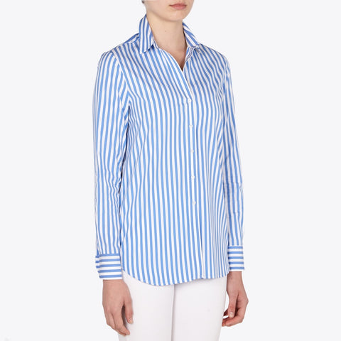 Valentina cotton poplin striped shirt