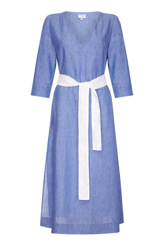 Barbara Column Dress Blue