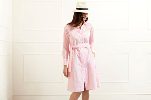 Victoria pink striped shirtdress