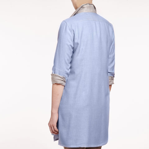 Sophia cotton cashmere mix tunic shirt