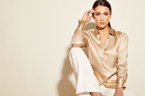 Valentina Gold Silk shirt