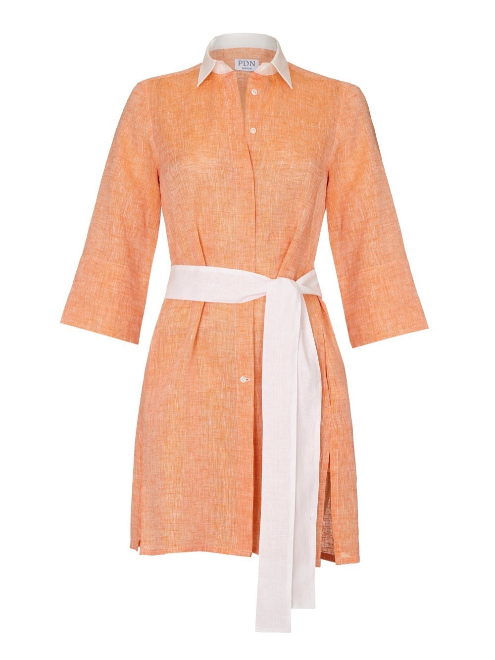 Sophia Sunset orange Linen Tunic