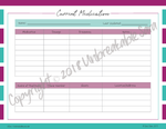 Current Medications & Pharmacy Page | Digital Download | Unbreakable Sara