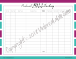 Medical Bill Tracker | Digital Download | Unbreakable Sara