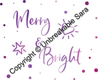 Holiday Graphics Pack Wall Decor | Digital Download | Unbreakable Sara