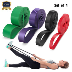 Pull Up Assistance Stretch Resistance Bands Set of 4