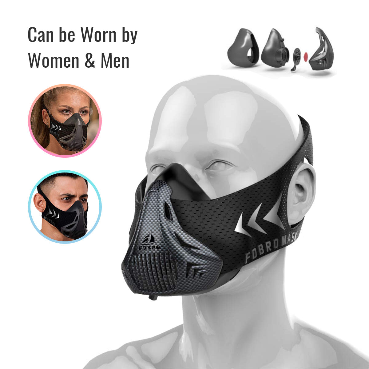 High Altitude Oxygen Simulator Workout Training Mask