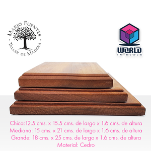 Base modelos a escala rectangular de madera