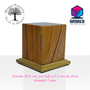 Base rectangular de Madera - Grande -
