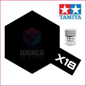 Pintura Tamiya X-18 Semi Gloss Black