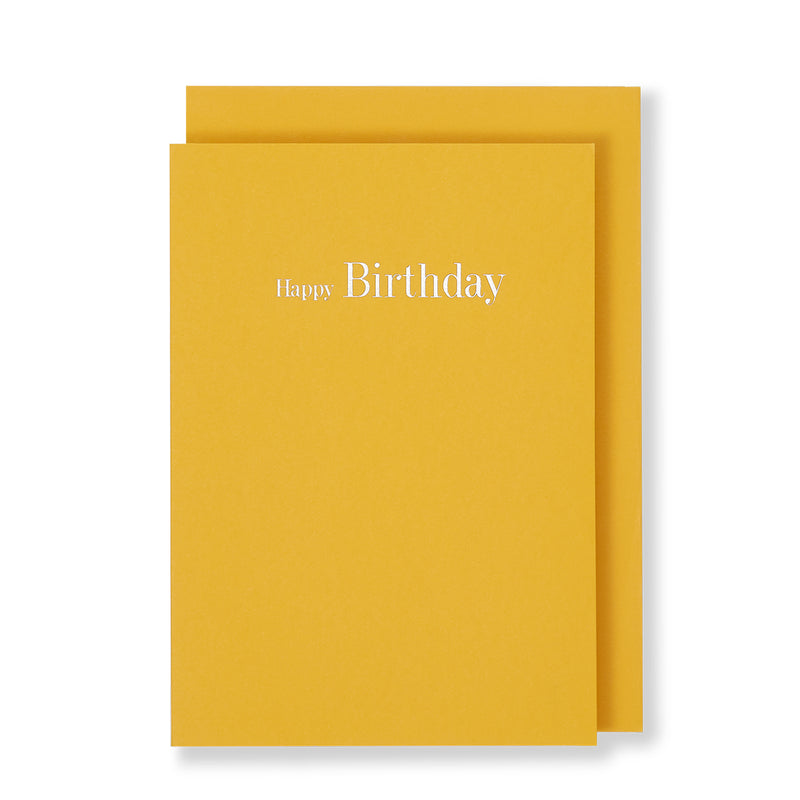 Happy Birthday Card, Orange