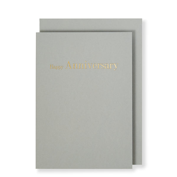 Happy Anniversary Card, Grey