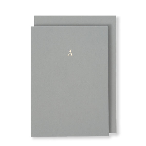 A Greeting Card in Grey, Front | Story of Elegance
