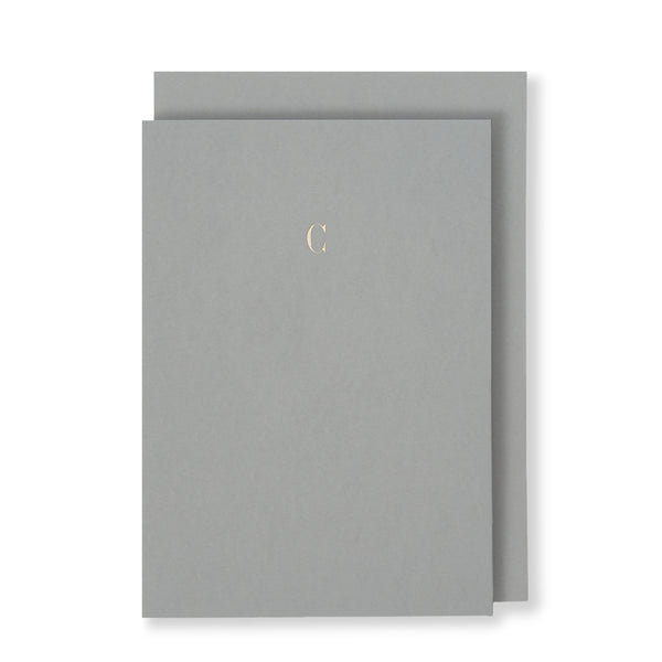 C Greeting Card in Grey, Front | Story of Elegance