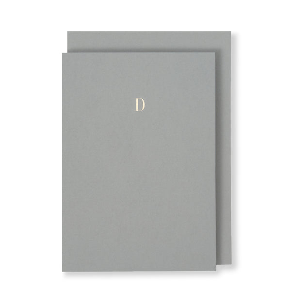 D Greeting Card in Grey, Front | Story of Elegance