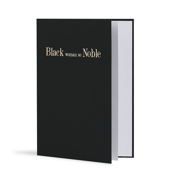 Black Woman So Noble Greeting Card in Black, Side