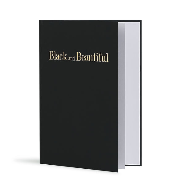 Black and Beautiful Greeting Card in Black, Side