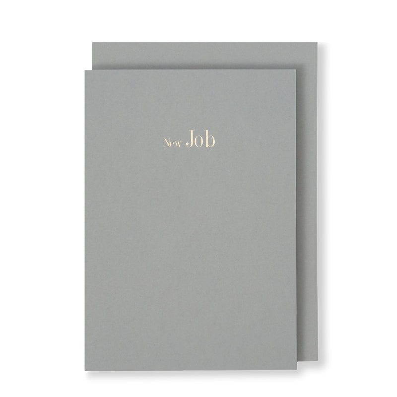 New Job Greeting Card in Grey, Front