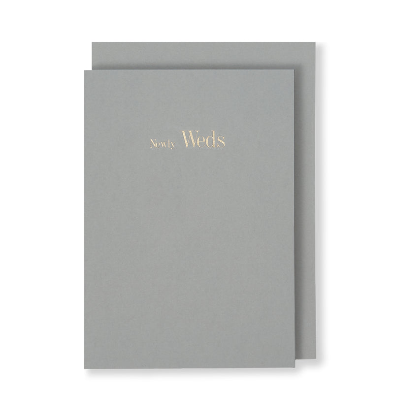 Newly Weds Greeting Card in Grey, Front