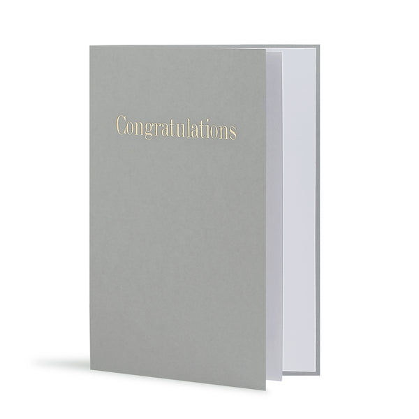 Congratulations Greeting Card in Grey, Side