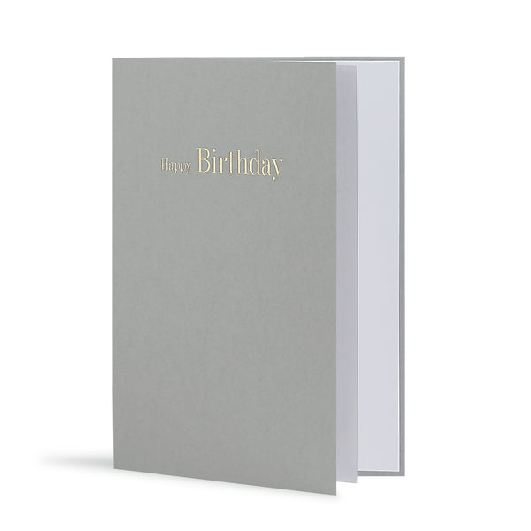 Happy Birthday Greeting Card in Grey, Side